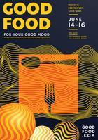 Matfestivalen affischdesign vektor