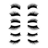 ögonfransar clipart set