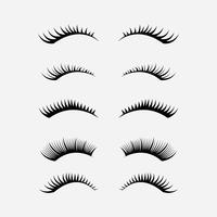 Wimpern Clipart Set