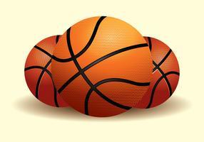 Realistische Basketball-Illustration