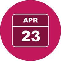 23. April Datum an einem Tageskalender