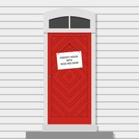 Röd dörr vektor