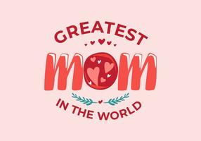 Mamma Typografi Vektor Illustration