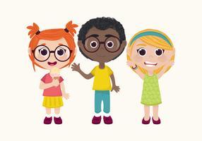 Vektor barn teckenuppsättning