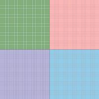 twill pastellplädda mönster vektor