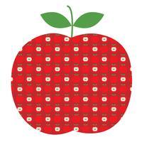 Apfelgraphik mit Apfelmuster vektor