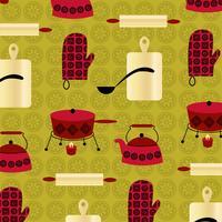 vintage fondue bakgrundsmönster vektor