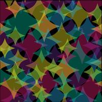 überlappende transparente Diamant abstraktes Muster auf schwarzem Hintergrund vektor