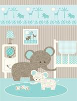 baby elefant plantskola grafisk vektor