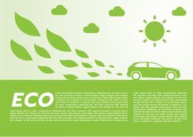ECO bilkoncept.vektor