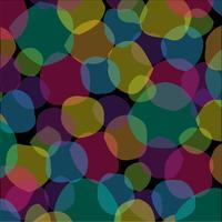 überlappendes abstraktes Formenmuster auf schwarzem Hintergrund