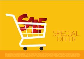 Einkaufswagen, Verkauf, Vektorillustration