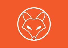 Vektor avbild av en räv design, vektor illustration. Animal Logo.