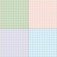 pastellfärgade ginghamplädmönster vektor