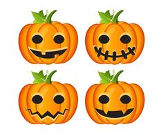 Halloween satt med pumpor vektor