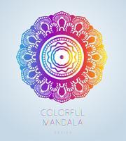 Vektor ornamental mandala inspirerad etnisk konst, mönstrad indisk paisley. Handritad illustration. Inbjudningselement. Tatuering, astrologi, alkemi, boho och magisk symbol.