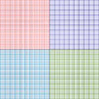 Twill-Pastell-Vektor-Plaids
