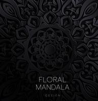 Eleganter Save The Date-Kartenentwurf. Vintage floral Einladungskarte Vorlage. Luxus-Strudel-Mandalagruß vektor