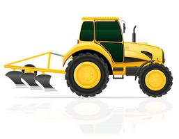 Traktor mit Pflug-Vektor-Illustration vektor