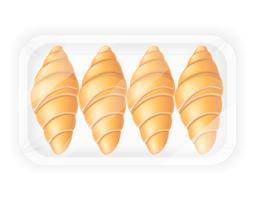 croissant i förpackning vektor illustration
