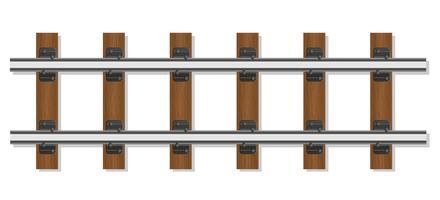 Eisenbahnschienen und Holzschwellenvektorillustration
