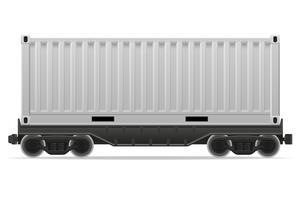 Eisenbahnwagenzug-Vektorillustration