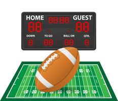 amerikansk fotboll sport digital resultattavla vektor illustration
