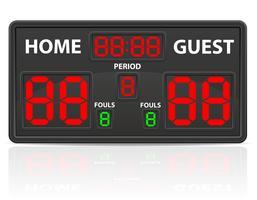 Basketball trägt digitale Anzeigetafel-Vektorillustration zur Schau