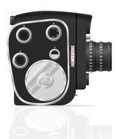 alte Retro- Weinlesefilmvideokamera-Vektorillustration