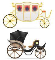 Wagen für den Transport von Menschen Vektor-Illustration vektor