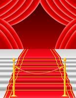 Roter Teppich mit Drehkreuzvektorillustration