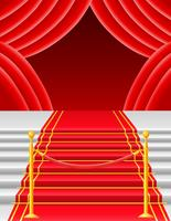 Roter Teppich mit Drehkreuzvektorillustration vektor
