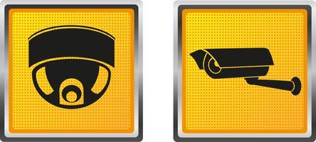 Ikonenvideoüberwachungskamera für Designvektorillustration