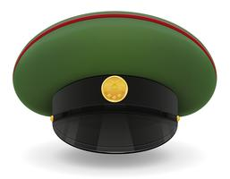 professionelle einheitliche Kappe oder militärische Vektorillustration
