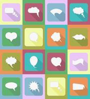 Spracheblasen flache Ikonen-Vektorillustration