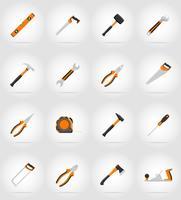 flache Ikonen der Reparatur- und Bauwerkzeug-Vektorillustration vektor