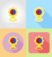 Flache Ikonen der Babyspielwaren und des Zubehörs vector Illustration