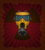 begreppet radioaktiv kontamination vektor illustration