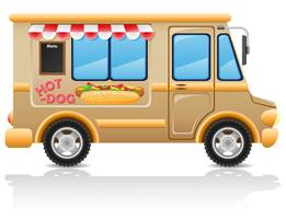 Auto-Hot-Dog-Fast-Food-Vektor-Illustration