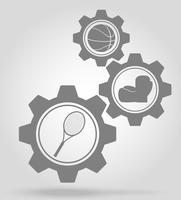 Sportgetriebe Konzept Vektor-Illustration