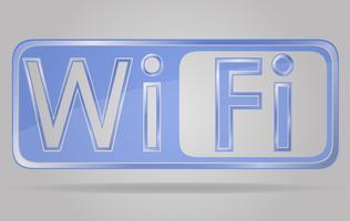 transparentes Zeichen Wi-Fi-Vektor-Illustration