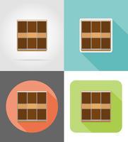 garderobsmöbler sätta platta ikoner vektor illustration