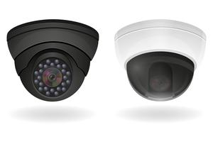 Überwachungskameras Vektor-Illustration