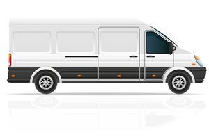 Minibus für die Beförderung der Frachtvektorillustration