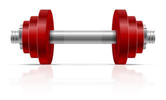 Metallhantel für Muskelaufbau in der Turnhallenvektorillustration