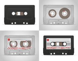 Audiokassetten-Vektor-Illustration