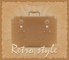 retro stil affisch gammal resväska vektor illustration