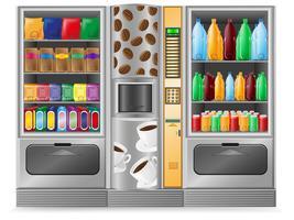 Kaffee-Snack und Wasser zu verkaufen ist eine Maschine vektor