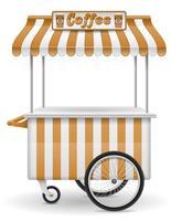gata mat vagn kaffe vektor illustration