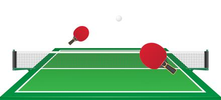 Tischtennis Ping Pong-Vektor-Illustration